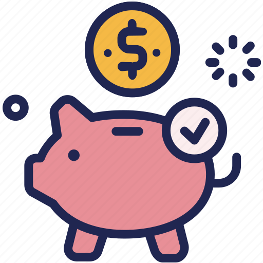 bank, coin, collect, deposit, income, piggy, saving icon