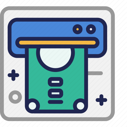 Atm, bank, business, cash, currency, money, withdrawal icon - Download on Iconfinder