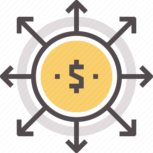 arrow, cash, dividends, dollar, payment, payout icon