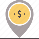 banking, local, location, mark, point icon