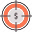 business target, financial, goals, shoot, target, target money icon