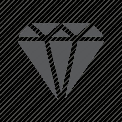 diamond, finance, solid icon