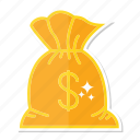dollar, money, sack icon