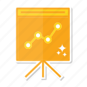 analytics, board, diagram icon