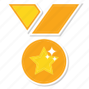 award, gold, medal, trophy, win icon