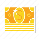 cash, dollar, finance, gold, money icon