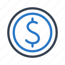 bank, banking, cash, coin, currency, dollar, finance icon