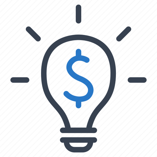 business, finance, idea, light bulb, money icon