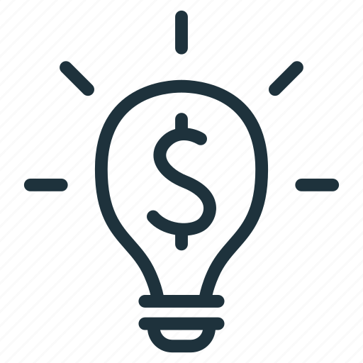 business, finance, idea, light bulb, money icon