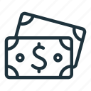 bank, cash, currency, dollar, finance, money icon