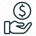 cash, income, investment, money, profit, revenue, salary icon