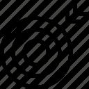 aim, bullseye, dartboard, goal, target icon icon