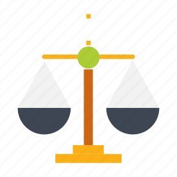 balance, business, equality, flat icon, justice, law, weighing icon