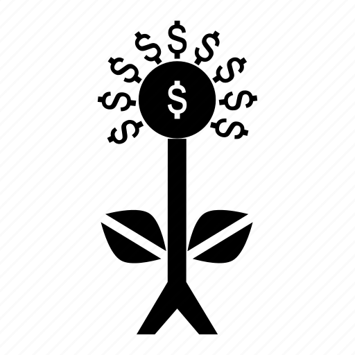 buisness, economy, fund, return, tree icon
