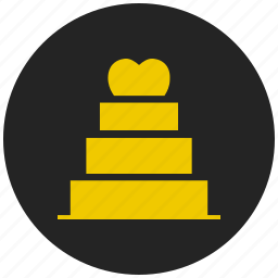 birthday cake, cake with candles, celebration, christmas cake, party, valentines day cake, wedding cake icon