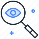 browse, find, monitoring, search, watch, zoom icon