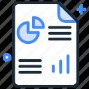 business report, document, finance, marketing, report, sales, statistics icon
