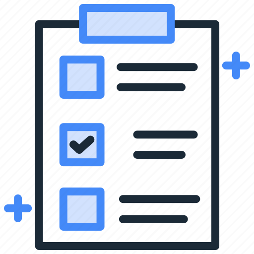 checklist, clipboard, document, file, notebook, notepad, notes icon