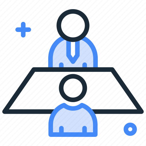 contextual interview, discussion, interview, meeting, presentation, recruitment icon