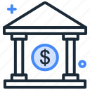 bank, cash bank, dollar, finance, loan, money icon