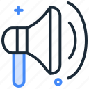 advertisement, advertising, loud, marketing, megaphone, speaker icon