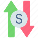 currency exchange, currency value, money exchange, money transfer, stock market, transfer icon