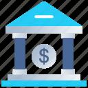 bank, cash bank, dollar, finance, loan, money icon