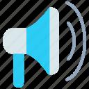 advertisement, advertising, loud, marketing, megaphone, speaker icon