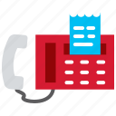 bill, connection, contact, fascimile, fax, phone icon