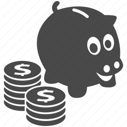 bank, cash, coin, finance, money, piggy, piggy bank icon
