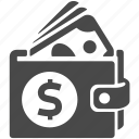 bank, business, cash, dollar, finance, money, wallet icon