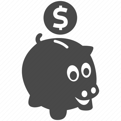 bank, business, cash, finance, money, piggy, piggybank icon