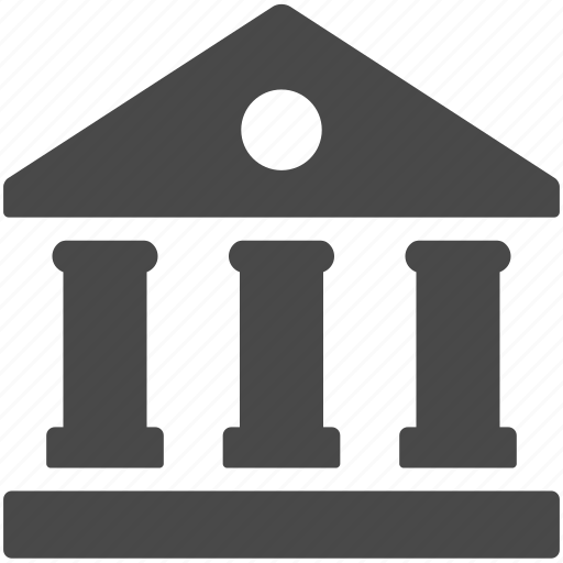 bank, building, business, finance, hall, house, office icon