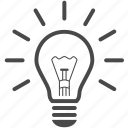 bulb, creative, creativity, energy, idea, light icon