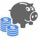 business, finance, financial, money, piggy, piggy bank, piggybank icon