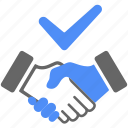 agreement, approved, business, deal, finance, handshake, ok icon
