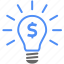 bulb, creative, finance, idea icon