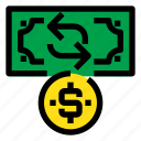 business, exchange, financial, money, payment icon