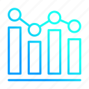analytics, business, financial, graph icon