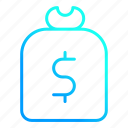 dollar, financial, money, payment, sack icon