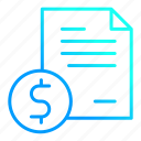 document, financial, money, report icon