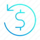 financial, money, payment, reload icon
