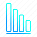 analytics, decrease, graph, statistics icon