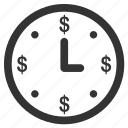 business, clock, finance, money, time, time value, timer icon