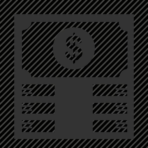 bank, banknote, cash, financial, money, rich, wealthy icon