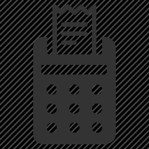bill, check, cheque, reciept, tax, tax calculator, vat icon