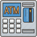 atm, banking, cash, machine, withdrawing