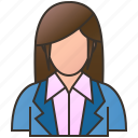 accountant, assistant, businesswoman, customer, manager icon