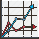 analysis, chart, graph, line, report icon