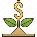 growth, income, investment, profit, success icon